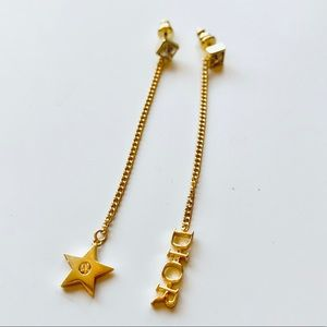 Authentic Christian Dior Star & Crystal Earrings